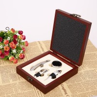 礼品盒四件套可印logo  赠品定制红酒开瓶器套装木盒酒具套装